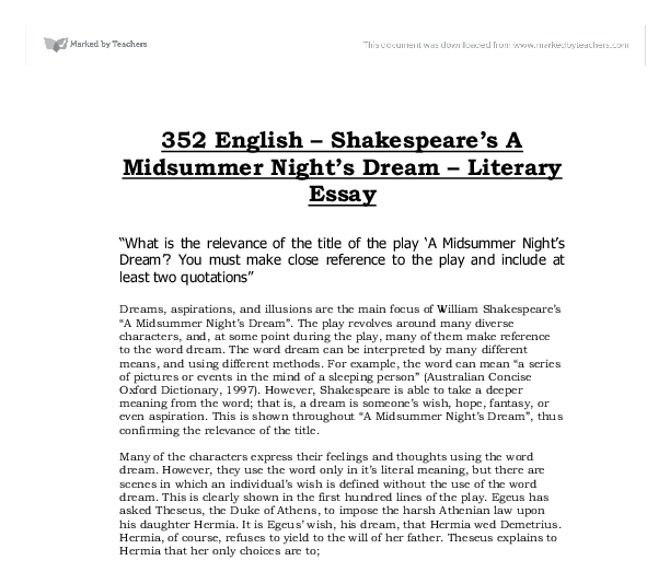shakespeare relevance essay