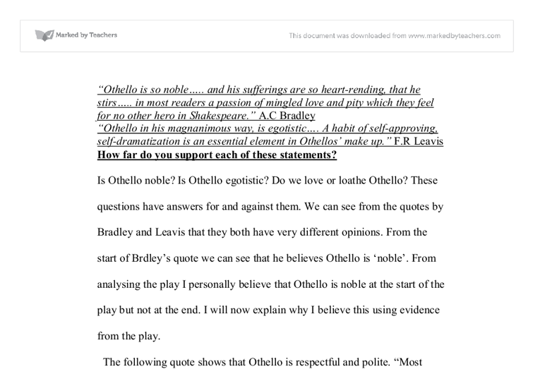 an aristotelian interpretation of othello essay The tragedy of othello: summary, analysis & quotes go to basics of writing essays in 11th the tragedy of othello: summary, analysis & quotes related.