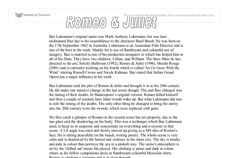 romeo and juliet essays about their love