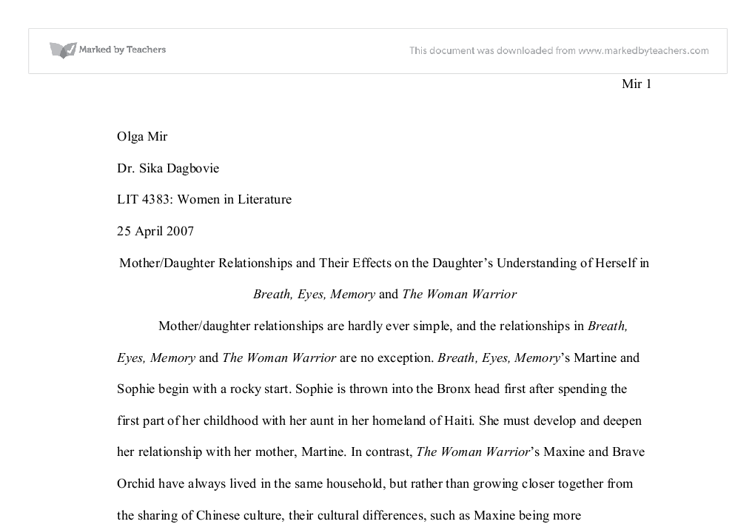 Childhood memory essay eminem allow me to introduce myself essay