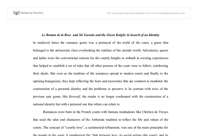 comparison contrast essay beowulf sir gawain sir gawain and the green knight by unknown reviews discussion meaning and  purpose of education essay