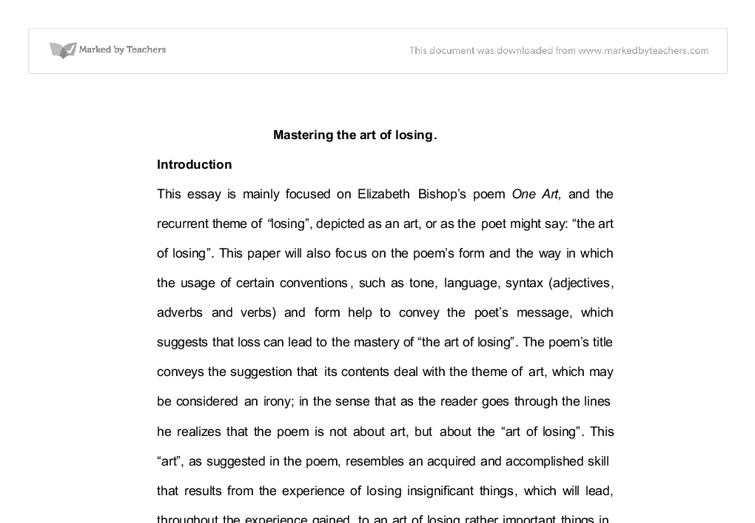 art introduction essay