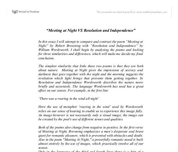 meeting at night vs resolution and independence university  document image preview