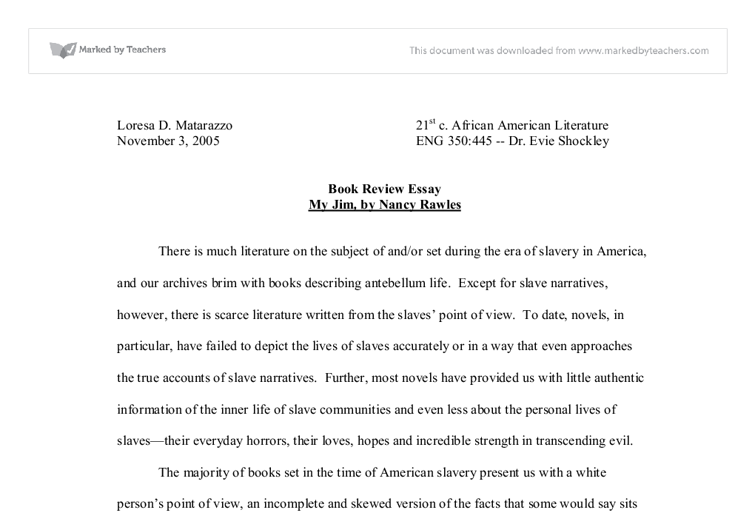 document image preview - Example Of Book Review Essay