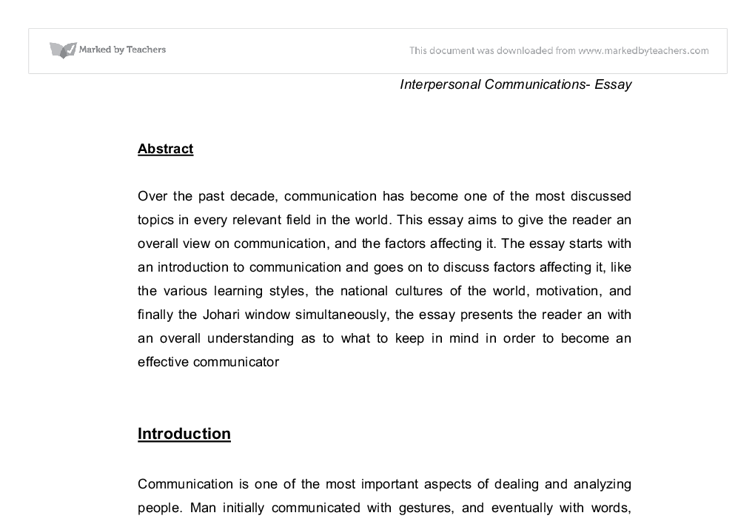 Examples Of A Thesis Statement For An Essay Reflective Essay Business Communication Jayce O Yesta Old English Essay also Informative Synthesis Essay Halimbawa Ng Tagalog Na Thesis Sarah Edison Knapp Parenting Skills  The Yellow Wallpaper Character Analysis Essay