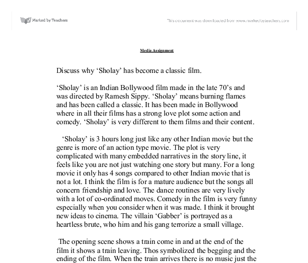 FREE My Favorite Movie Essay