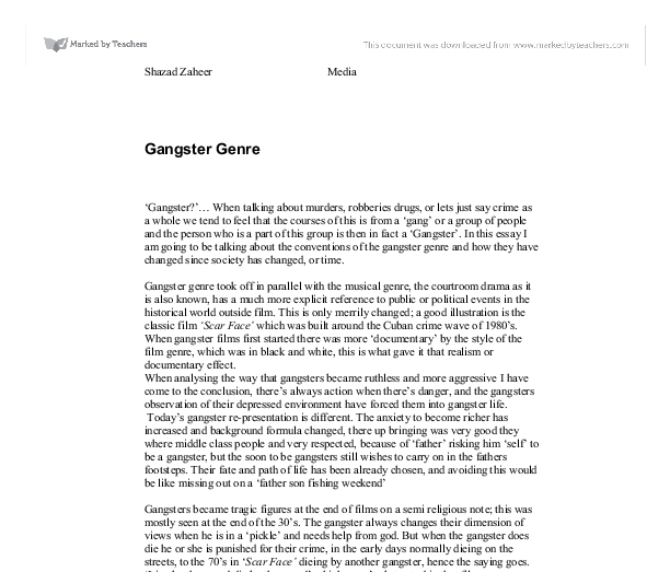 Essays on gangster genre