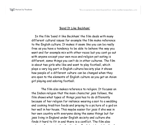 bend it like beckham essay