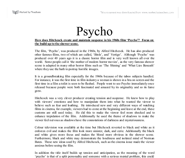 hitchcock creates atmosphere essay Imagery in psycho 1 january they aided in creating a suspenseful atmosphere that not only emphasized hitchcock's vision haven't found the essay you want.