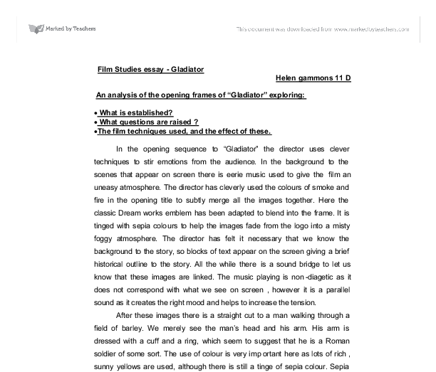 gladiator movie summary essay Homi jahangir bhabha essays my country in next 20 years essay about myself ap world history change over time essay 2011 nfl logan essay movie review gladiator.