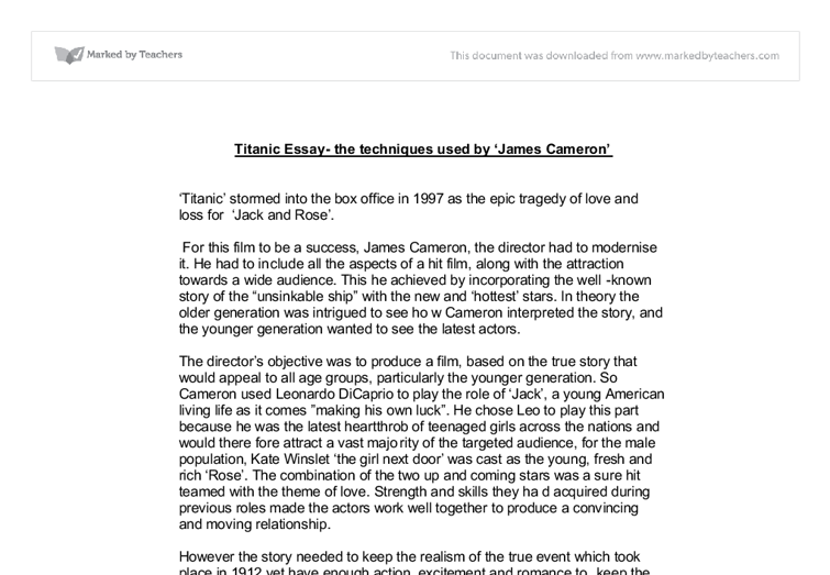 the titanic essay Free titanic facts and information, and a collection of 13 titanic worksheets for use at school in a homeschooling environment.