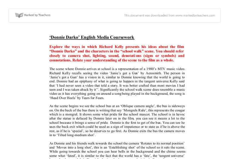 donnie darko analysis essay Order essay help from $1390 per page custom writing, editing or edu webinars.