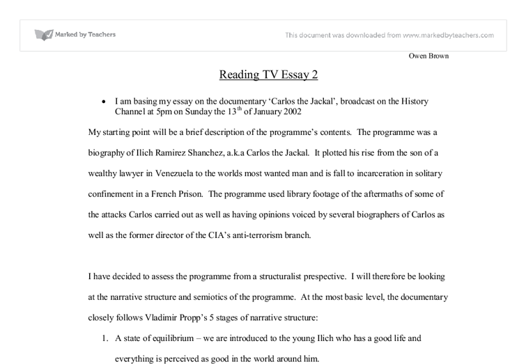 Help with media essays on news broadcasts