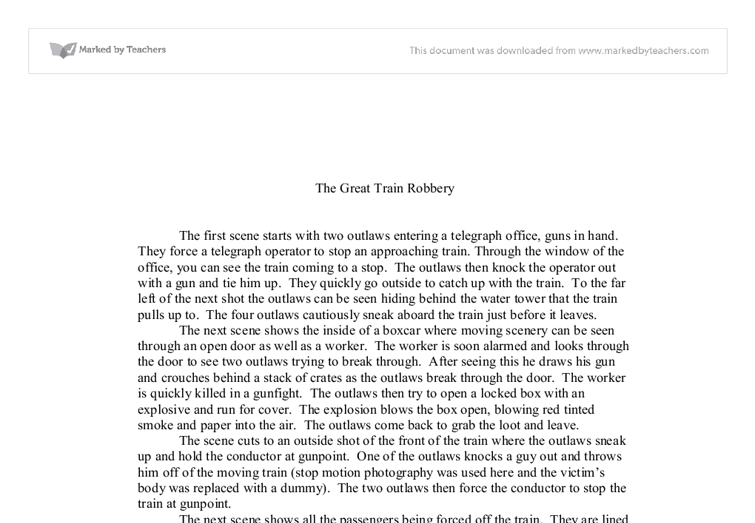 great train robbery essay The great train robbery the great train robbery need essay sample on the great train robbery we will write a.