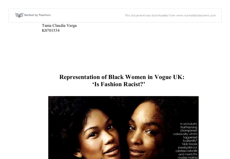 essay on representation of black women in the media