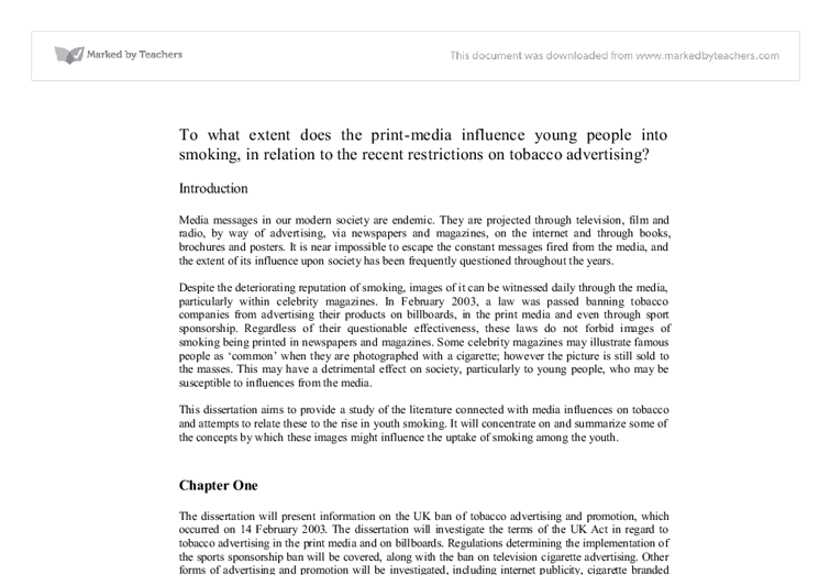 argumentative essay on media influence on youth The theme that became evident in my literature research about objectification of women in media is its various effects of all different demographics in society, but a stronger affect of women women are being viewed media influence on youth.