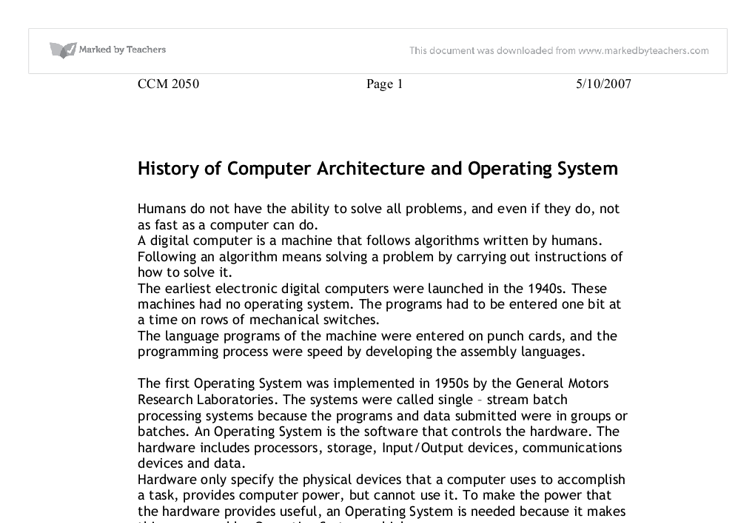 Short essay on Computer System for students