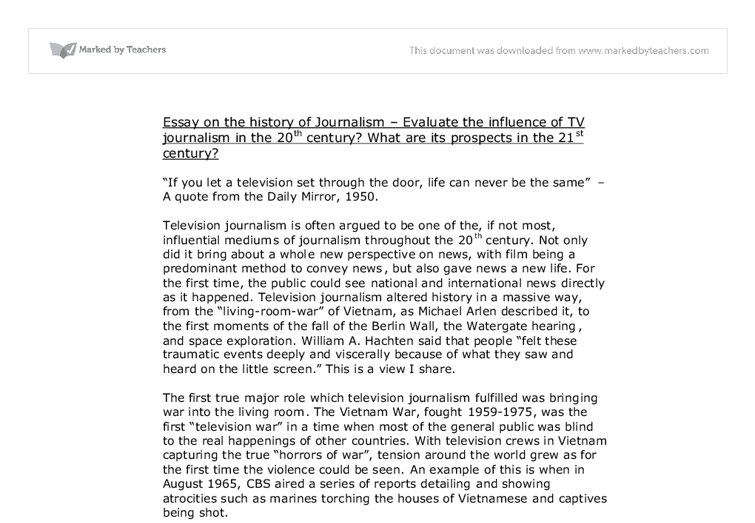 Essay about influence of television