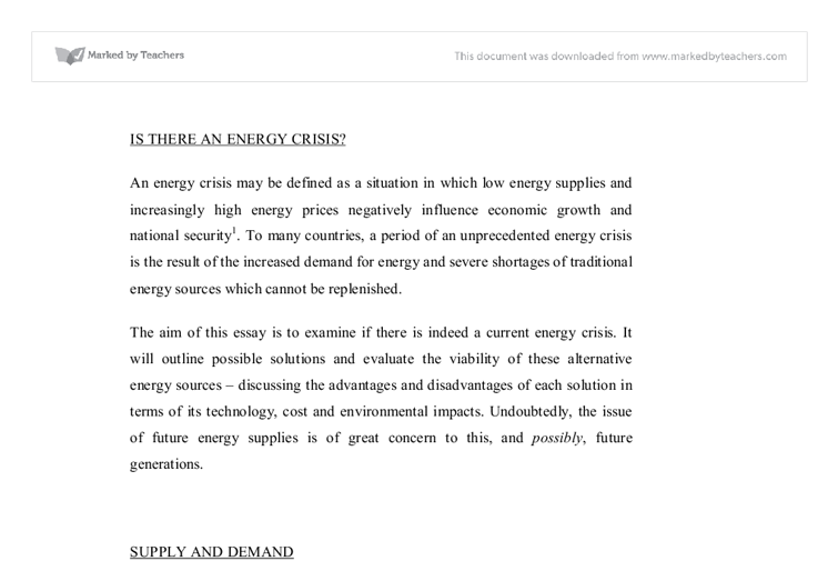 is there really an energy crisis university physical sciences  document image preview