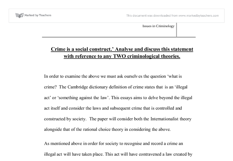 essay on crime