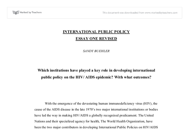 the role international institutions played in The international institutions of global governance have to adapt to a changing  institutions played a role in steering globalization the distributional e¤ects of.