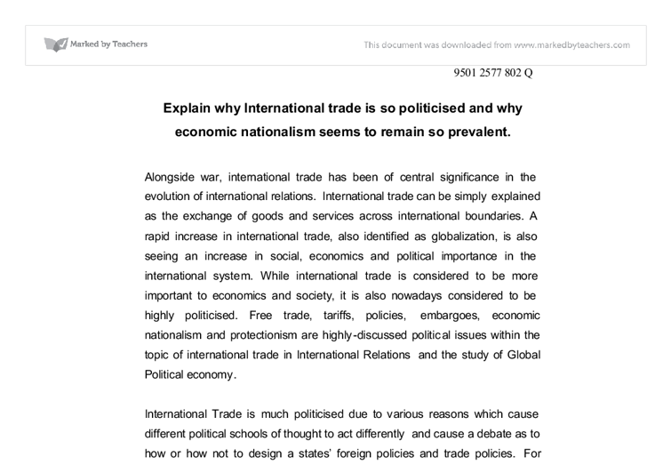 Why is international trade important?