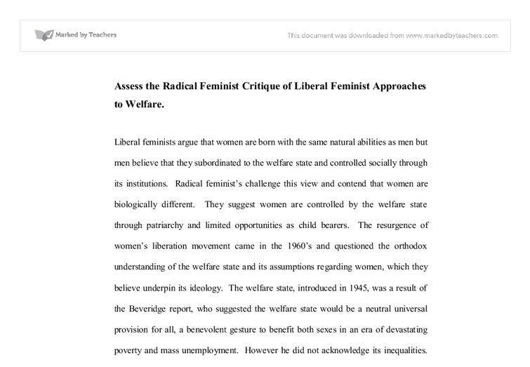 feminist approaches to social work essay Articles incorporating feminist theory into social work practice: group work examples christine flynn saulnier abstract feminist theories explain the structure and.