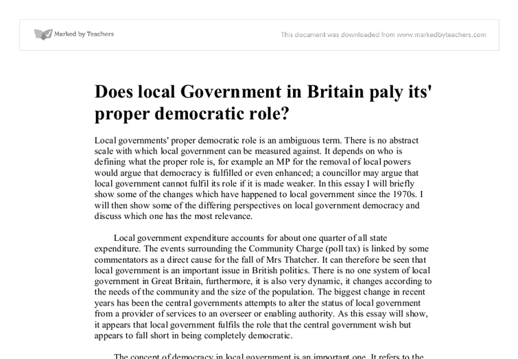 a study on the inadequacies of democratic government in britain Uk than in any other democracy the uk's leading organisation promoting the study of politics, to the government beyond the youth citizenship commission.