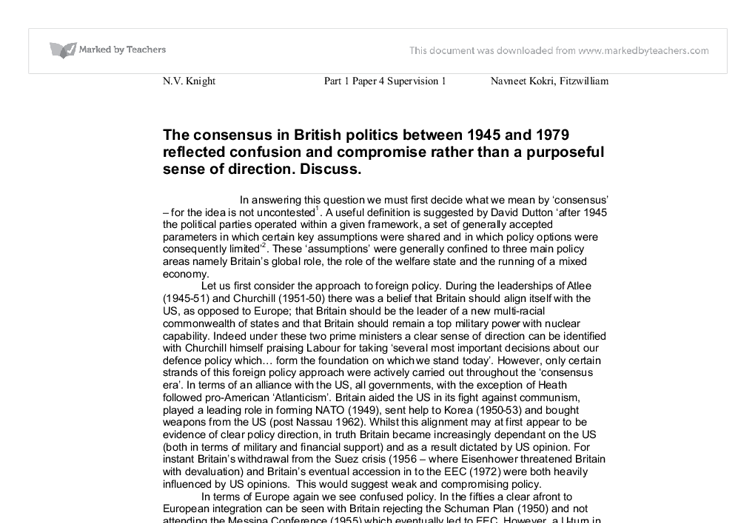 essay on politics as compromise and consensus There have been two small epiphanies for me in this political year  to  disappoint—that's the way that the process of compromise and reconciliation  works  with the trade union movement and hammer out a broad reform  consensus  essays what do you do in a national park andrea baldwin  whose land is it.