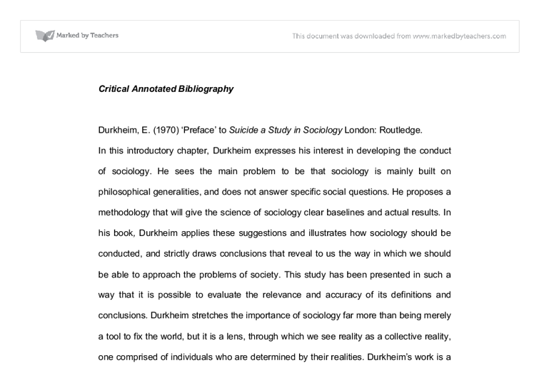 critical preface annotated bibliography