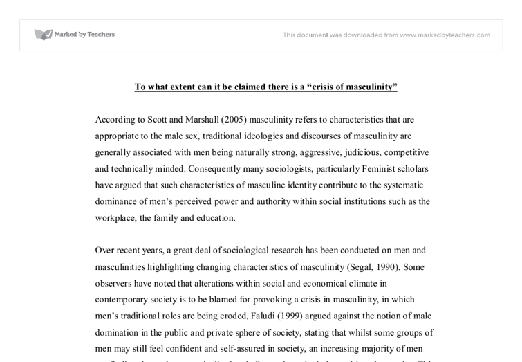 masculinity and football essay