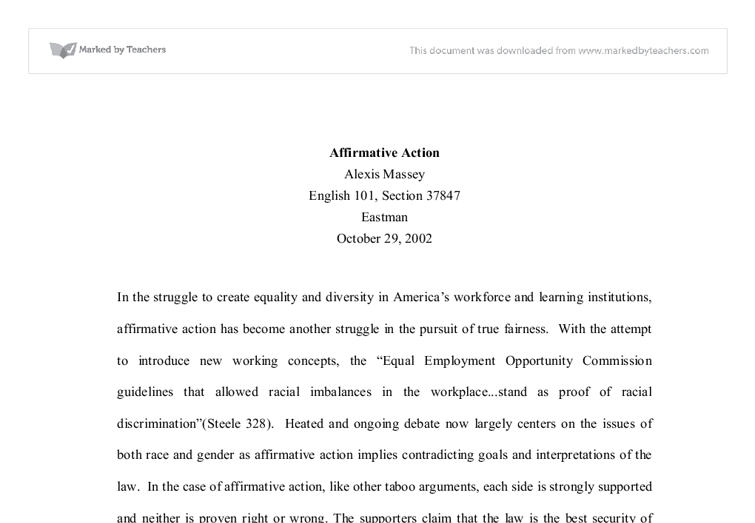 essay about fairness and equality
