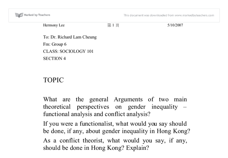 ... On Conflict Theory - Essay Topics Free Essays On Conflict Theory