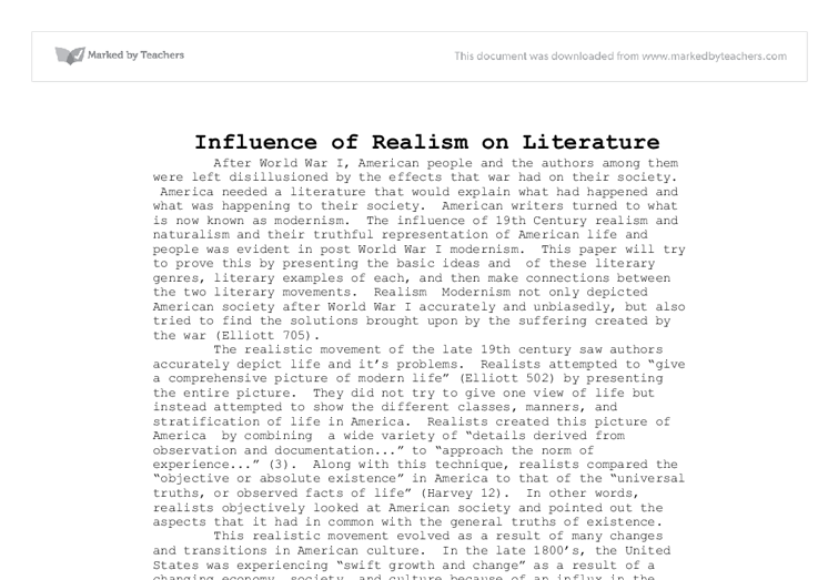 A Discussion on Realism and Impressionism Essay