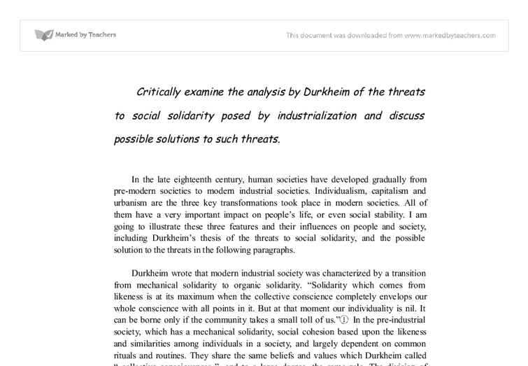 classical theory essay about solidarity Classical and neoclassical approaches of management: an the essay compares its role on 2001) the three greatest proponents of classical theory were taylor.