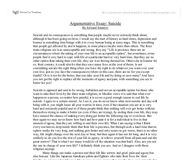 Persuasive essay examples for college