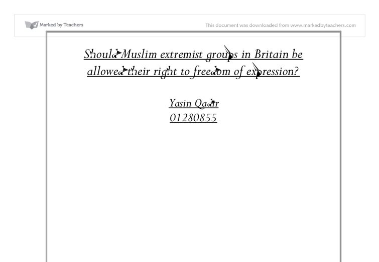 extremist group essay Defining and distinguishing secular and religious terrorism research/papers/2014/01/muslim non-islamic terrorist group with both capabilities.