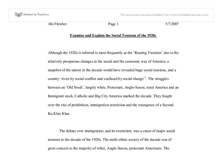 the racing twenties essay Essays from bookrags provide great ideas for roaring twenties essays and paper topics like essay view this student essay about roaring twenties this student essay consists of approximately 2 pages of analysis of social life in the 1920's.