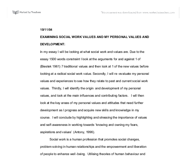 Essays On Racism In America Examining Social Work Values And My Personal Values And Document Image  Preview Sample Of A Process Essay also Examples Of Descriptive Essay Essay On Personal Values Examining Social Work Values And My  Antigone Essay Prompts