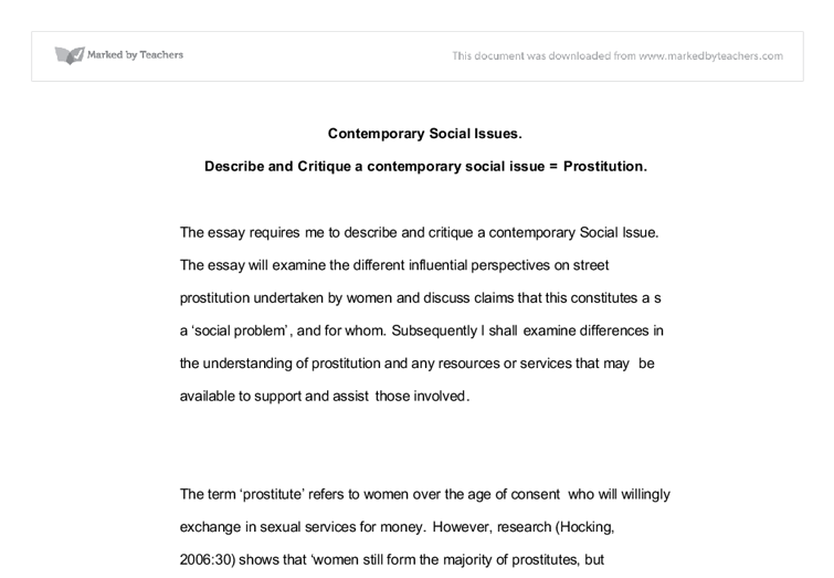 social issues - University Social studies - Marked by