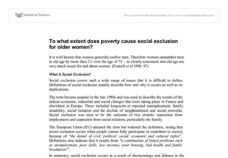 poverty a social evil essay Poverty has been praised by poets essay on the evils of poverty social conditions are against him.
