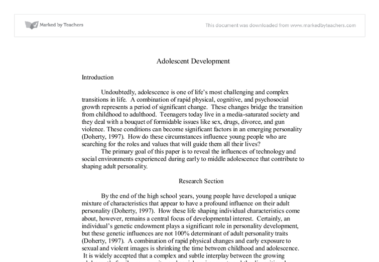 the influences of technology and social environments experienced in adolescence Online social networking behaviors among chinese  they argued that adolescence is a life phase for  children who experienced secure attachment to .
