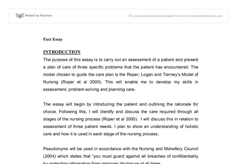 Teaching and assessing essay nursing
