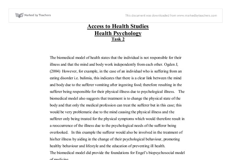 model essay biomedical model essay
