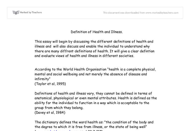 Taking in Illnesses Essay: The Simple Treatment For The Dilemma