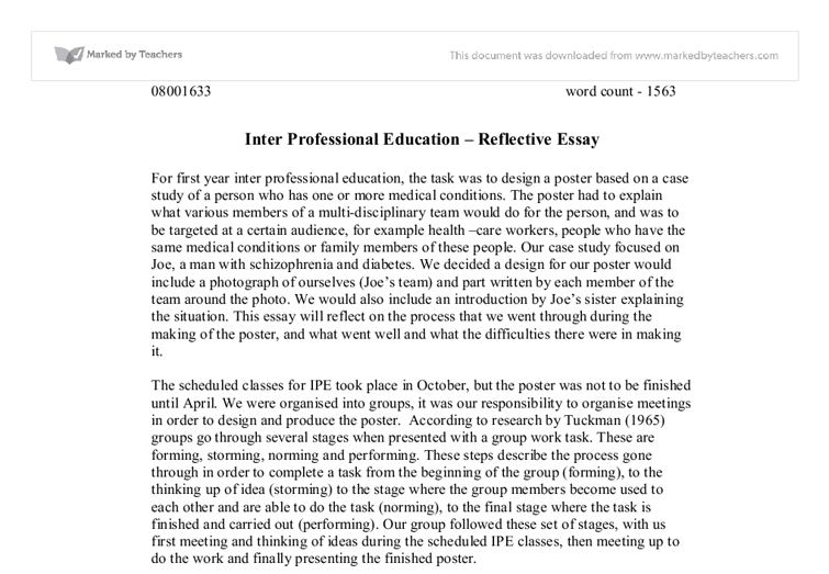 Education now and then essay format