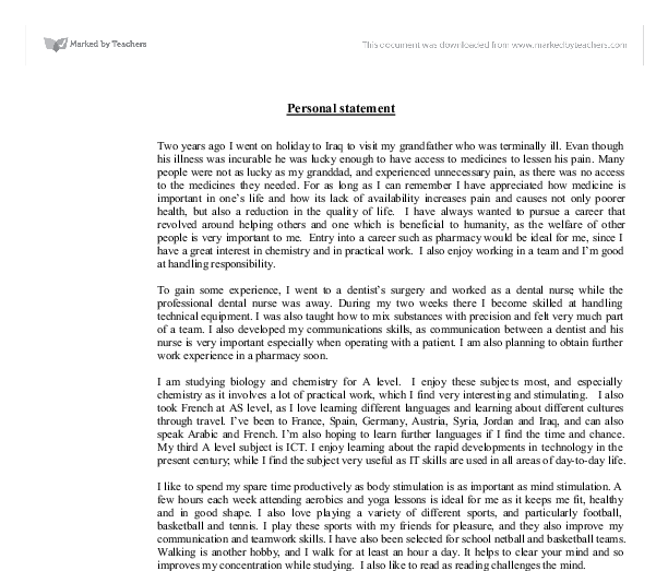 grad school personal statement engineering