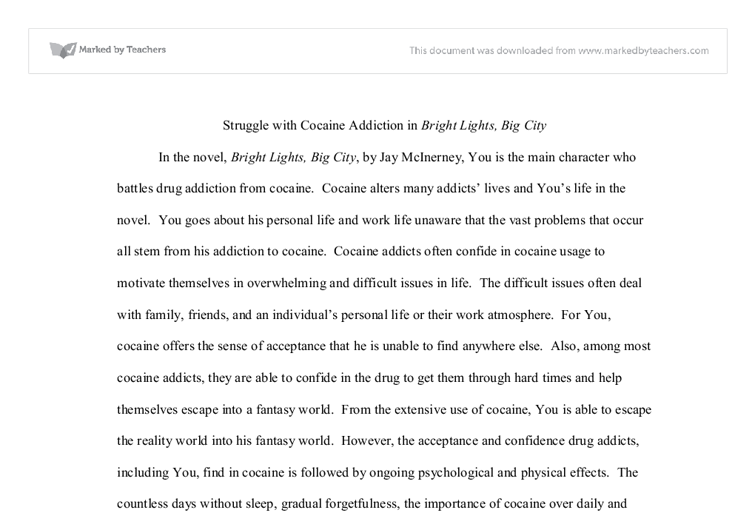 bright lights big essay Writer jay mcinerney became famous in the 1980s for bright lights, big city, a semi-autobiographical novel about a young man who parties in the cocaine-dusted clubs of manhattan, but the.